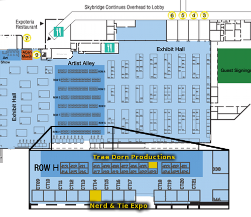 Anime Central 2016 vendor map