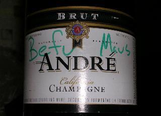 Champagne? No. Sparkling White.