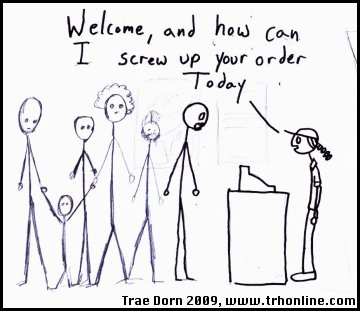 Fast Food Idiocy Stick Figures