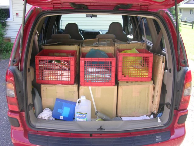 Van full of stuff... Rising Stuff!